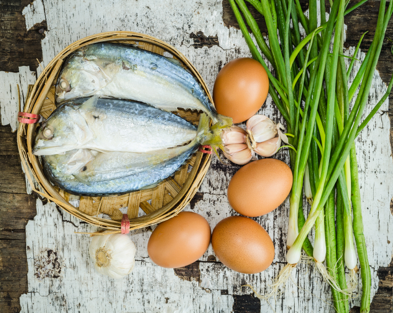 Eggs and fish